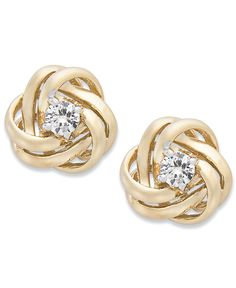 Wrapped in Love Diamond Knot Stud Earrings in 14k Gold (1/3 ct. t.w.)