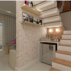 O que fazer embaixo da escada??? Amei!! By @db_interiores #arquiteturadeinteriores #escada #arquitetura #archdecor #archdesign #archlovers #interiores #instahome #instadecor #instadesign #design #bar #detalhes #produção #decoreseuestilo #decor #decorando #decordesign  #decorlovers #decoração #homestyle #homedecor #homedesign #decorhome #home #tijolinhoaparente #decorazione #aquelecantinho #escalier #stairs
