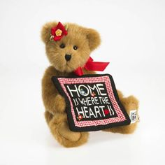 Enesco USA - Flora Engelbreit is a fully-jointed 10-inch bear crafted in custom-blended gold plush fabrics. Flora's patchwork quilt is a whimsical adaptation of one of Mary Engelbreit's most popular illustrations and adages . . Home is Where the