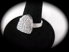 Shield Hollowform Ring Size 8 1/2 by brightcreations on Etsy, $65.00