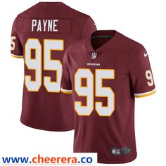 92f998c77 Nike Washington Redskins  95 Da Ron Payne Burgundy Red Team Color Men s  Stitched NFL