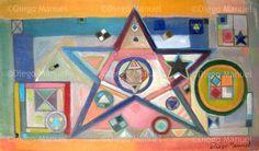 """Constelacion"", acrylic on canvas, 38 x 22 cm. 2009 Price of original painting: inquire"
