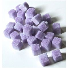 Lavender Sugar Cubes for Champagne Toasts, Tea Parties, Organic... ❤ liked on Polyvore featuring food and filler