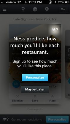 Ness - Restaurant Recommendations Design Patterns - Pttrns