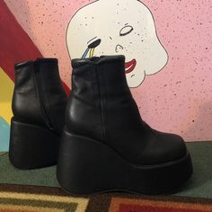 09a8358b28f Unif platform Vice boots In really good condition with in - Depop Unif