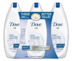 Dove Deep Moisture Body Wash Value Pack, 24 Ounce, 3 Count #Dove