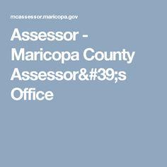 Assessor - Maricopa County Assessor's Office