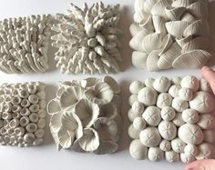 Set of 9 Miniature Clay Wall Tile Sculptures of your choice - Polymer Flower Sculptures and Tiles by Angela Schwer Clay Tiles, Ceramic Clay, Ceramic Pottery, Sculpture Clay, Wall Sculptures, Sculpture Ideas, Plaster Sculpture, Photo Sculpture, Sculpture Projects