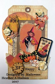Items similar to Vintage Halloween Butterfly Calendar Candy Corn Pumpkin Moon Embellishments Victorian Digital Collage sheet Printable My Artistic Adventures on Etsy Halloween Paper Crafts, Halloween Tags, Halloween Banner, Vintage Halloween, Halloween Pumpkins, Happy Halloween, Halloween Ideas, Pumpkin Moon, Image Collage