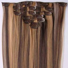 9.33$  Buy here - http://di3i4.justgood.pw/go.php?t=YJ0677001 - Fashionable Long Straight High Temperature Fiber Hair Extension For Women(P4/27) 9.33$