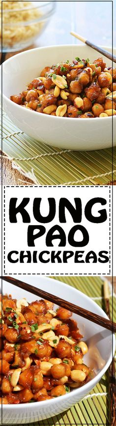 Kung Pao Chickpeas - This is the vegan version of the classic Chinese takeout. Now you can make it at home for lunch or dinner any day of the week.