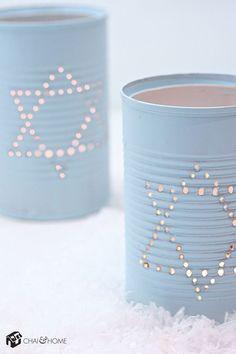 Chanukah: Tin Can Luminaries Craft Project