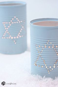 Chanukah: Tin Can Luminaries Craft Project