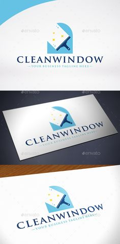 Clean Window Logo Template — Vector EPS #business #brilliant • Available here → graphicriver.net/...