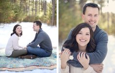 RIGHT: a basic but necessary photo! Snowy Minnesota Engagement