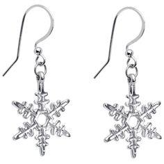 Holiday Winter Snowflake Earrings #piercing #earrings #bodycandy #gift #holiday $4.99