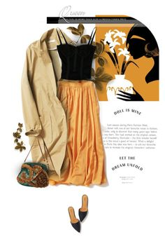 """""""*791*"""" by monazor ❤ liked on Polyvore featuring Dolce&Gabbana, womenfashion, longSkirt, trenchcoat, falloutfit and summer2016"""