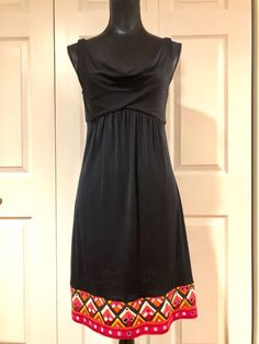 442b123590e9 DVF Vintage Cocktail Party sleeveless black dress size 6 silk and viscose  #fashion #clothing