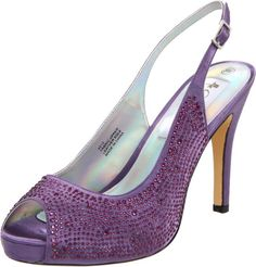 dee16d8bf2 Ladies platform purple bridal pump by Coloriffics. Suitable to be worn as  wedding shoes or