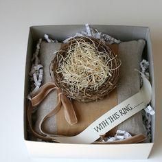 So sweet for a rustic wedding - a little nest!  www.bellabride.co.za