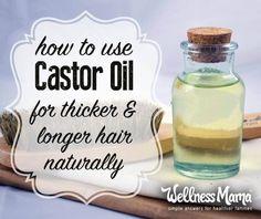 How to use castor oi