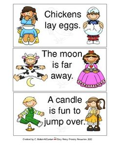 Here are three Nursery Rhume themed activities.The  activties includeFact and Opinion sort, rewrite sentences, and a more or less poke-and peek m...