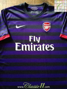 Official Nike Arsenal away football shirt from the 2012/2013 season.