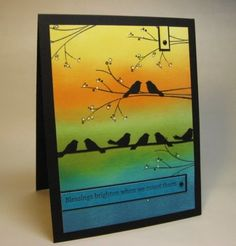 images martha stewart bird on wire punch   made this for the Crazy 4 Challenges Blog C4C90 , it's an ...