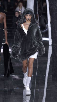There's just something about that oversized fuzzy hoodie from the Rihanna AW16 Fenty x Puma show at New York Fashion Week