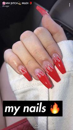 Nagel Kunst nails nails nails nails for teens fall 2019 fall autumn fake nails nails natural Aycrlic Nails, Matte Nails, Coffin Nails, Manicures, Best Acrylic Nails, Acrylic Nail Designs, Acrylic Nail Art, Fire Nails, Dream Nails