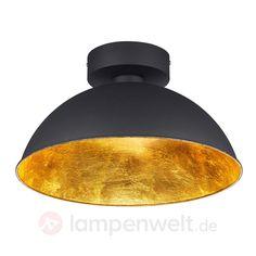 Schwarz Goldene LED Deckenlampe Romino 9005076