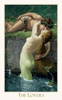 Victorian Romantic Tarot,The Lovers2