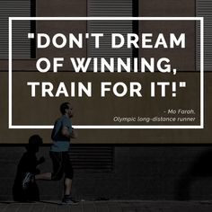 Dont dream of winning train for it