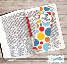 I Know The Scriptures Are True Printable Bookmark. 2016 LDS Primary Theme