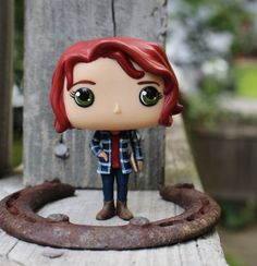 """Sam and Dean are like my brothers. I love them   This is a custom kitbash Funko Pop of Charlie Bradbury from Season 10 of Supernatural played by"