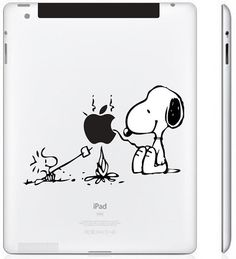 iPad/iPad Mini Decal - Snoopy - iPad/iPad Mini Stickers, iPad/iPad Mini Decals, Apple Decal