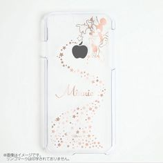 iPhone 6/6s Disney Minnie Mouse Star Pink Gold Stamped Clear Hard Case #0222 #Disney