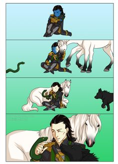 Omg love this! Fenrir the wolf, Jormungand the great serpent, and Sleipnir the 8 legged horse but where is Hel, my youngest?