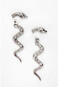creeping cobra earring, $14.00