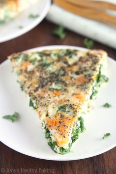 Skinny Kale & Butternut Squash Quiche -- just 6 ingredients & packed with protein! via @amybakeshealthy