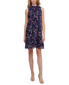 Floral Burnout A-Line Dress Petite Gowns, Embellished Gown, Alex Evenings, A Line Gown, Gowns With Sleeves, Gowns Online, Chiffon Dress, Print Chiffon, Review Dresses