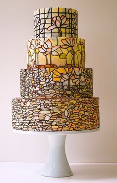 Tiffany Stained Glass Cake
