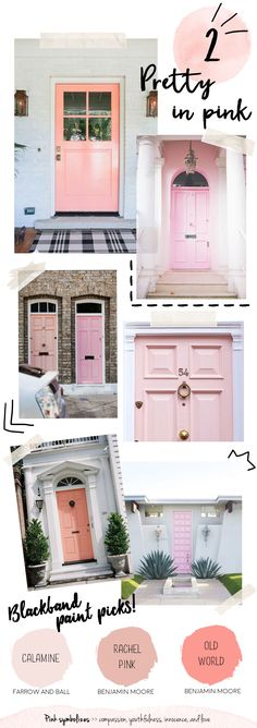 Colorful Front Doors - Blackband Design
