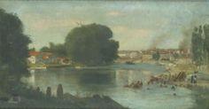 Jean-Alexandre-Joseph FALGUIERE, (Toulouse, 1831 - Paris, 1900), Bords de la Garonne, Inv. RO 1033. En restauration. © Musée des Augustins, Toulouse.