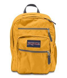 JanSport Big Student Backpack: Stay organized with the JanSport Big Student backpack. Featuring extra large capacity with two large compartments, a water bottle pocket and endless organizational options, the Big Student is the ideal everyday backpack. Jansport Superbreak Backpack, Cute Backpacks, Girl Backpacks, School Backpacks, Leather Backpacks, Leather Bags, Red Backpack, Rucksack Bag, Dreams
