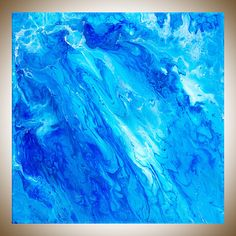 Blue Abstract Angel art Colourful Abstract original artwork