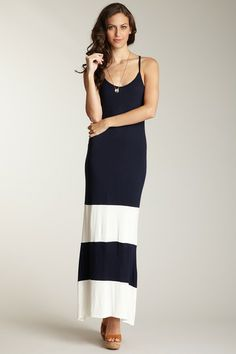 Loveappella Colorblock Maxi Dress by Dresses Starting At $15 on @HauteLook