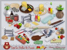After several requests we decided to bring to your sims4 the Funny kitchen series. Now, it's time to pasta and pizza. We added 4 more pieces to spice up this set ^^ by SIMcredibledesigns.com...