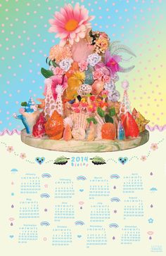 I love this 2014 Wall Calender by Ultraterrestrial