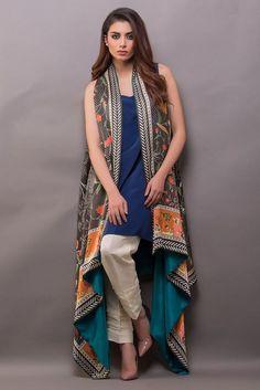 Show details for Floor length digitally printed cape Simple Pakistani Dresses, Pakistani Fashion Casual, Pakistani Dress Design, Indian Dresses, Frock Fashion, Fashion Dresses, Indian Designer Outfits, Designer Dresses, Stylish Dresses